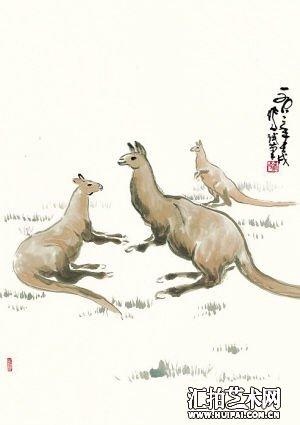 特有动物袋鼠的特征:前肢短小