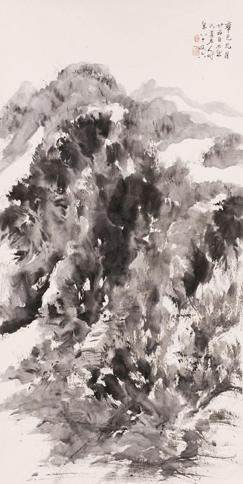 黑白写实植物画